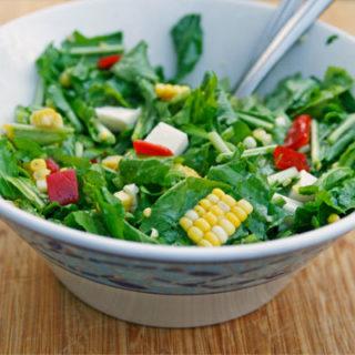 Arugula, Corn and Pepper Salad