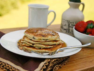 Banana Toffee Pancakes