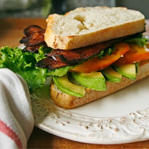 Bacon, Lettuce, Avocado and Tomato Sandwiches (AKA the BLAT)