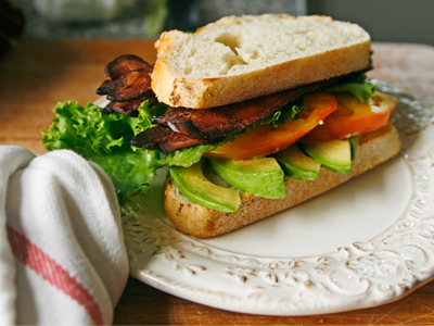 Bacon Avocado Lettuce and Tomato Sandwich