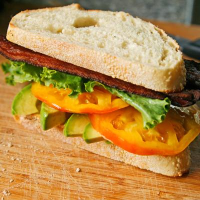Bacon Avocado Lettuce and Tomato Sandwich