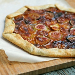 Fresh Fig Tart with Marmalade and Brie