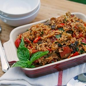 Tomato Basil Veggie Rice