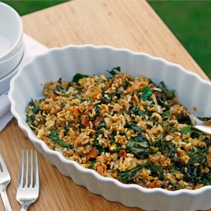 Bacon and Kale Fried Rice
