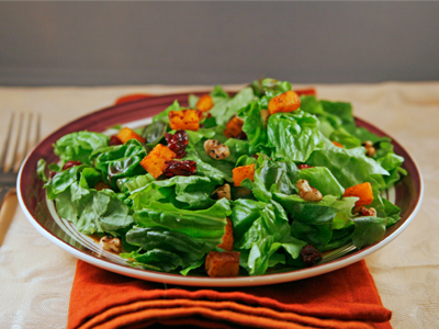 butternut squash walnut cranberry salad