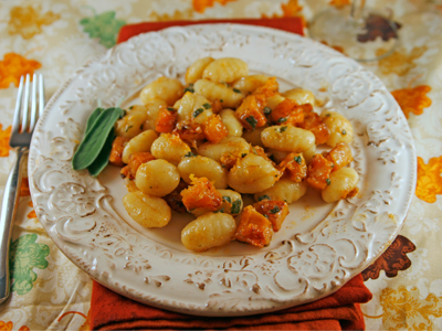 Roasted Butternut Squash and Sage Gnocchi