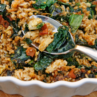 Kale and Bacon Fried Rice Recipe