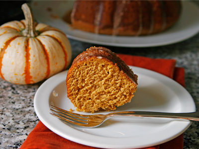 Iced Pumpkin Bundt Cake
