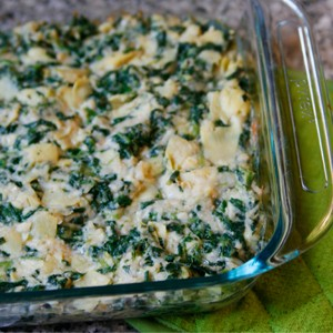 Hot Spinach Artichoke White Bean Dip
