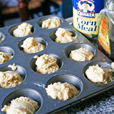 Maple Corn Muffin Batter