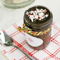 Chocolate Peppermint Cake in a Jar