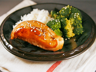 Baked Ginger Sesame Chicken and Broccoli