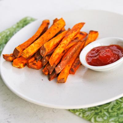 Herb and Garlic Baked Sweet Potato Fries - Sarah's Cucina ...