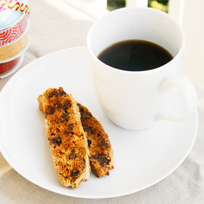 Double Chocolate Coconut Biscotti - Sarah's Cucina Bella