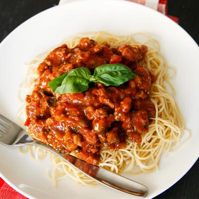 Sausage Bolognese - Sarah's Cucina Bella