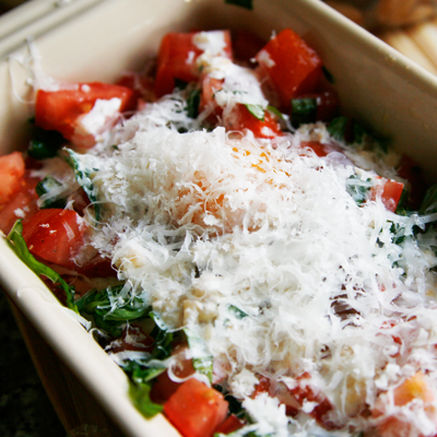 Baked Eggs with Roasted Garlic, Tomatoes and Basil - Sarah ...