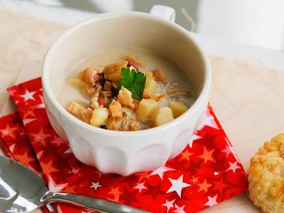 Lighter New England Clam Chowder, A Family Recipe