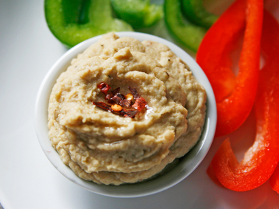 Roasted Garlic, Lemon and Walnut Hummus (Eat. Live. Be.)