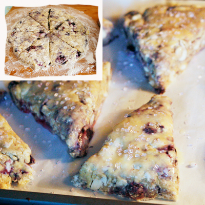 Blueberry White Chocolate Buttermilk Scones - Sarah's Cucina Bella