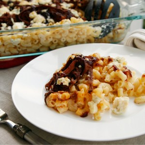 Smoked Cheddar and Blue Cheese Brisket Macaroni and Cheese