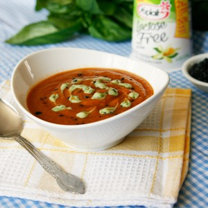 Indian-Spiced Tomato Lentil Soup with Basil Yogurt Drizzle - Sarah's ...