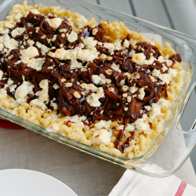 Smoked Cheddar and Blue Cheese Brisket Macaroni and Cheese - Sarah's ...