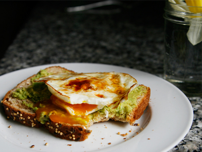 Whole Grain Toast with Mashed Avocado and An Egg - Sarah's ...