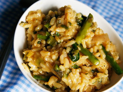 Roasted Spring Vegetable Herbed Risotto - Sarah's Cucina Bella