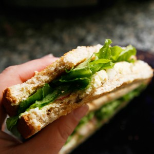 Easy Egg Salad Sandwich For One