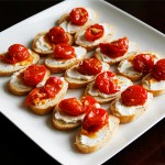 Garlic Tomato Crostini with Ricotta