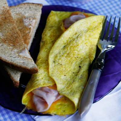Delicate Ham And Cheddar Omelet Recipes — Dishmaps