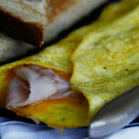 Delicate Ham and Cheddar Omelet