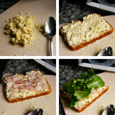 making of the sandwich