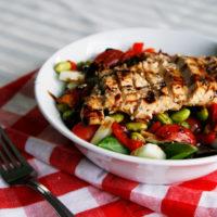 Edamame Chicken Dinner Salad