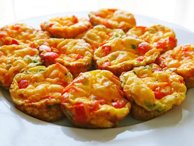 Red Pepper and Scallion Mini Frittatas