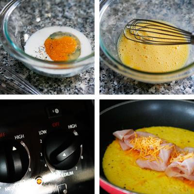 omelet steps