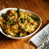 spring veg risotto