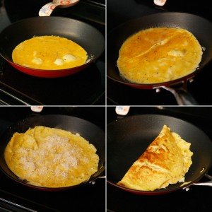 making the omelet