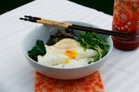 swiss chard rice bowl egg