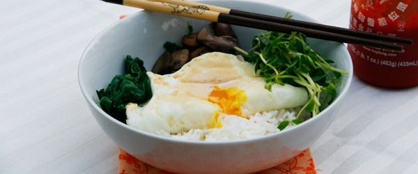 swiss chard rice bowl