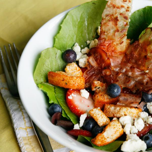 Berry and Gorgonzola Salad with Crispy Prosciutto - Sarah ...