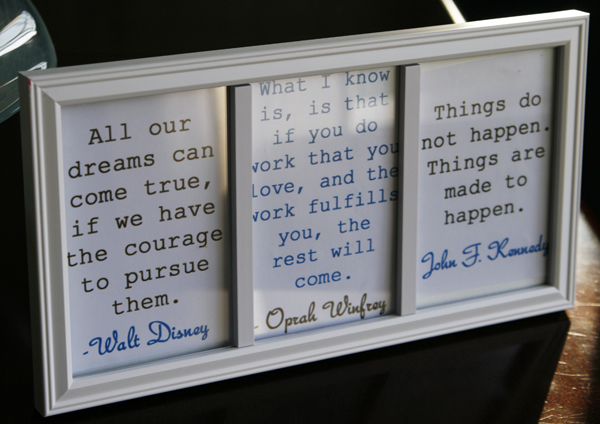 Diy Inspiration Frame With Motivational Quotes Sarahs Cucina
