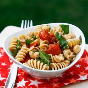 roast tomato basil pasta salad