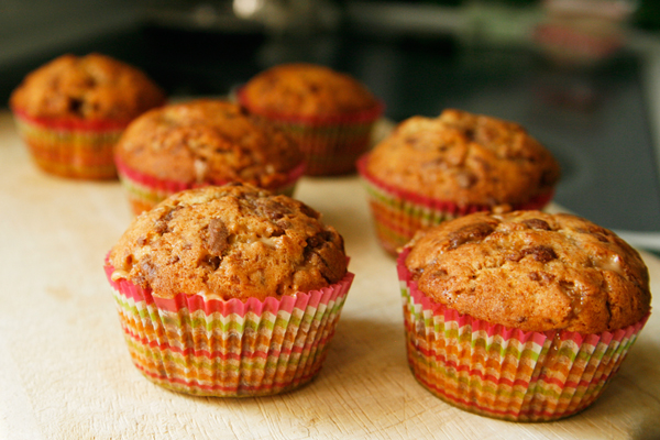 banana toffee muffins 2