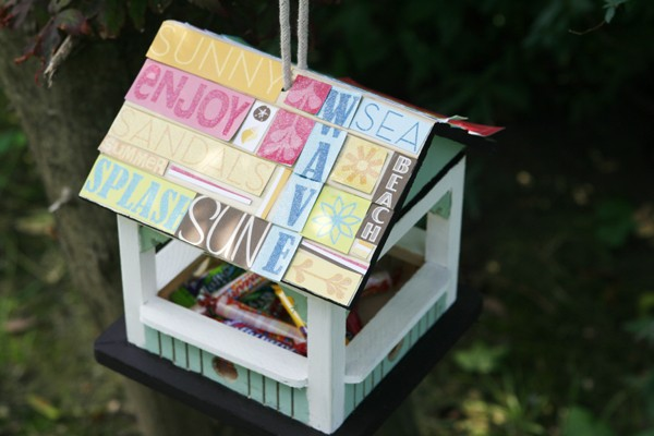 DIY Birdhouse Candy Dish