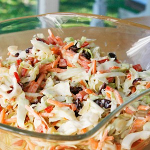 Tangy Cranberry Almond Coleslaw