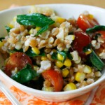 Lemony Farro Salad with Basil and Tomatoes