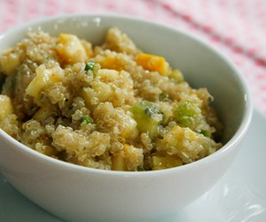 Fruited Quinoa Salad with Summer Squash and Lime