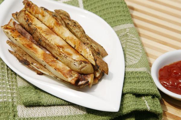Crispy Garlic Herb Oven Fries