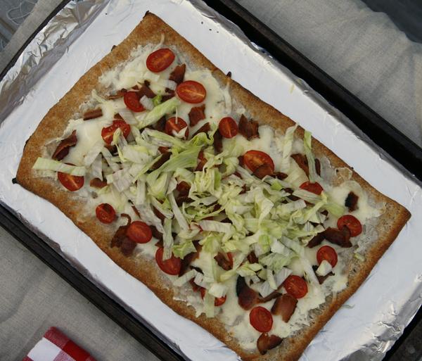 BLT Salad Pizza - Sarah's Cucina Bella